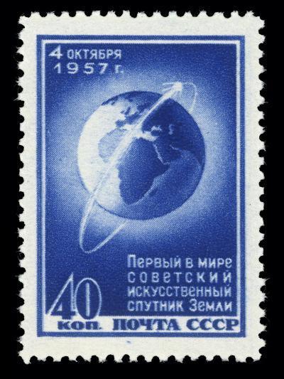 Sputnik 1 Stamp-Detlev Van Ravenswaay-Photographic Print