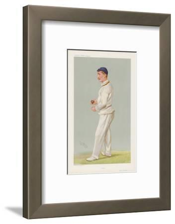 C M Wells English Cricketer Seen Here About to Bowl