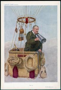 Frank Hedges Butler Motorist and Aviator by Spy (Leslie M. Ward)