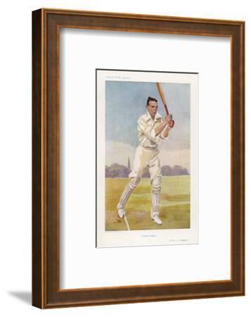 Rev Frank Hay Gillingham English Cricketer in Action