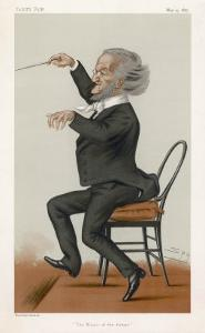 Richard Wagner the German Musician Conducts by Spy (Leslie M. Ward)