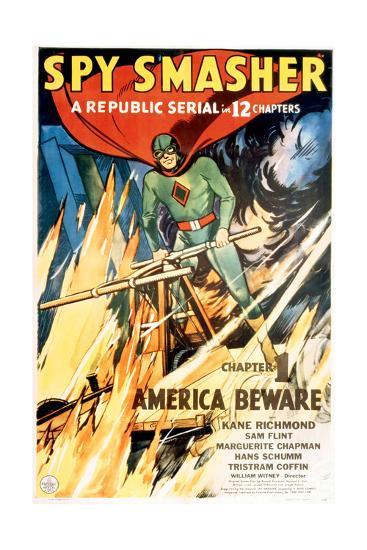 SPY SMASHER, Kane Richmond in 'Chapter 1: America Beware', 1942--Art Print