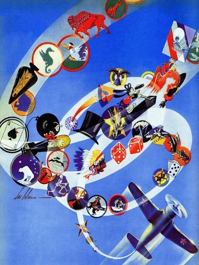 """Squadron Insignia,"" August 23, 1941-Ski Weld-Giclee Print"
