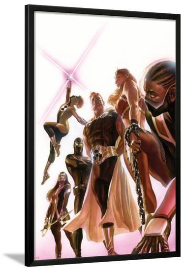Squadron Supreme #1 Cover with Blur, Doctor Spectrum, Nighthawk, Warrior Woman, Hyperion, Thundra-Alex Ross-Lamina Framed Poster