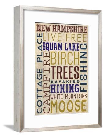 Squam Lake, New Hampshire-Lantern Press-Framed Art Print