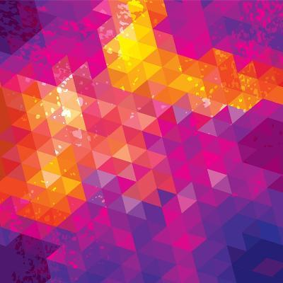 Square Composition With Geometric Shapes. Cover Background-nuraschka-Art Print