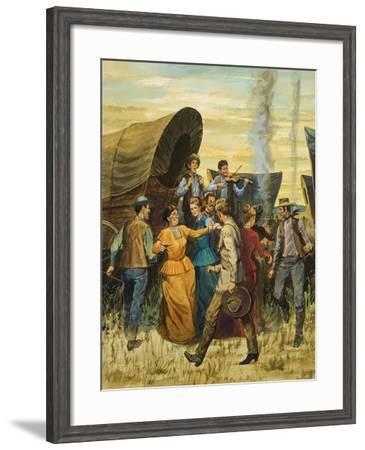 Square Dance--Framed Giclee Print