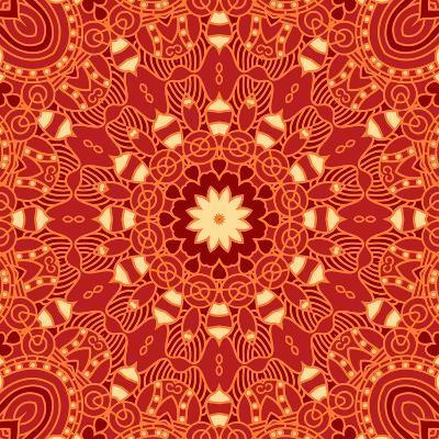 Square Decorative Design Element-epic44-Art Print