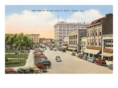 Square, Marion, Indiana--Art Print