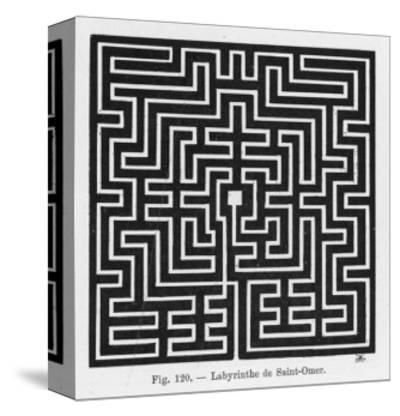 Square Maze in the Church of Saint-Omer France--Stretched Canvas Print