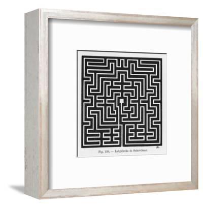 Square Maze in the Church of Saint-Omer France--Framed Premium Giclee Print