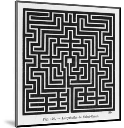 Square Maze in the Church of Saint-Omer France--Mounted Premium Giclee Print
