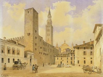 Square of Peace in Cremona-Carlo Gilio Rimoldi-Giclee Print