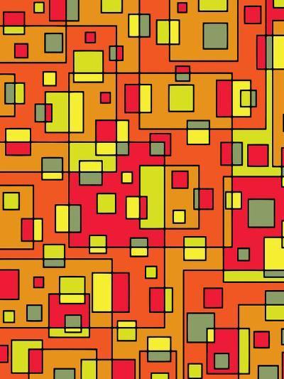 Square Pattern Design-Wonderful Dream-Art Print
