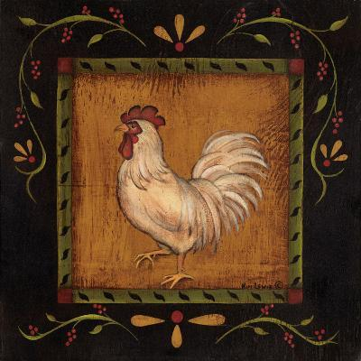 Square Rooster Left-Kim Lewis-Art Print