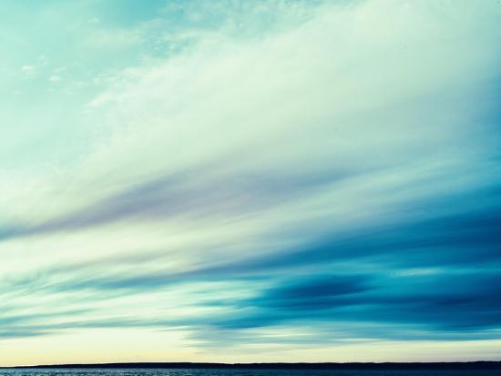 Square Vintage Ocean Landscape Composition-Nickolay Loginov-Photographic Print