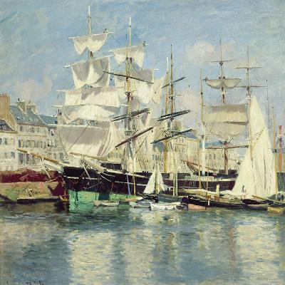 Squared - Riggers in Le Havre, 1886-Johannes Martin Grimelund-Giclee Print
