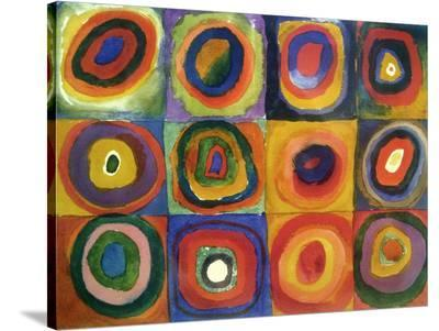Squares with Concentric Circles-Wassily Kandinsky-Stretched Canvas Print