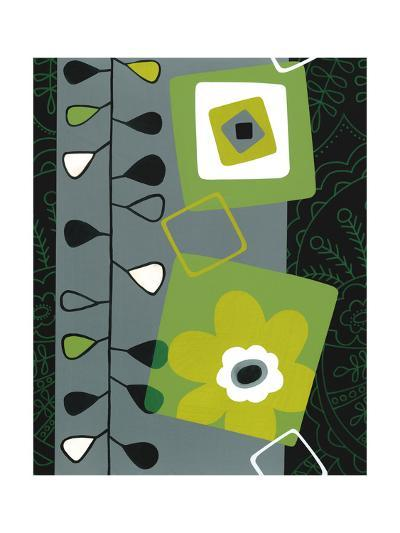 Squares with Floral Pattern--Art Print