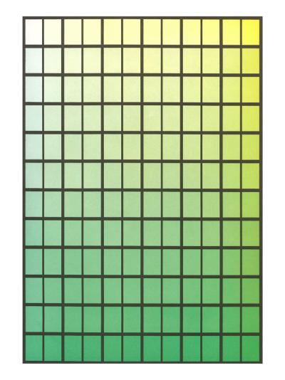 Squares with Gradated Greens--Art Print
