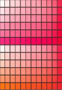 Squares with Gradated Orange to Red