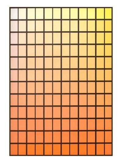 Squares with Gradated Orange to Yellow--Art Print