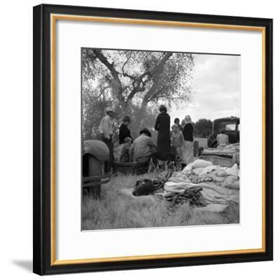 Squatters along highway near Bakersfield, California, 1935-Dorothea Lange-Framed Photographic Print