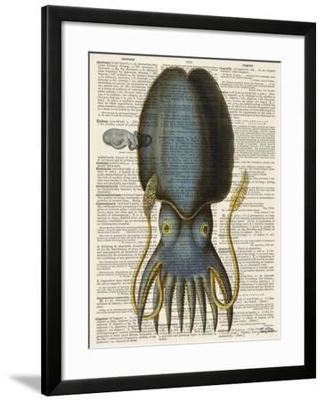 Squid 1-Tina Carlson-Framed Art Print