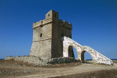 Squillace Tower, 16th Century, Porto Cesareo, Salento Peninsula, Apulia, Italy--Photographic Print