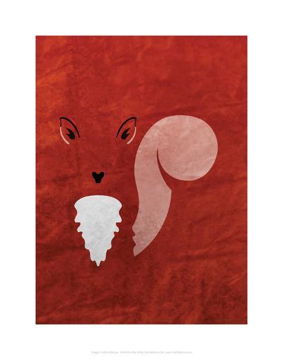 Squirrel - Jethro Wilson Contemporary Wildlife Print-Jethro Wilson-Art Print