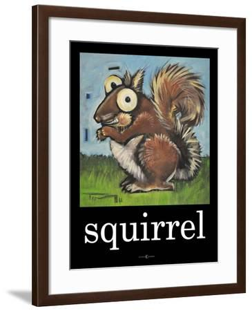 Squirrel Poster-Tim Nyberg-Framed Giclee Print