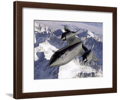 SR-71B Blackbird in Flight-Stocktrek Images-Framed Photographic Print