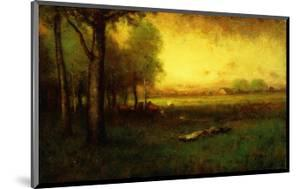 Cows Grazing at Sunset by Sr. George Inness