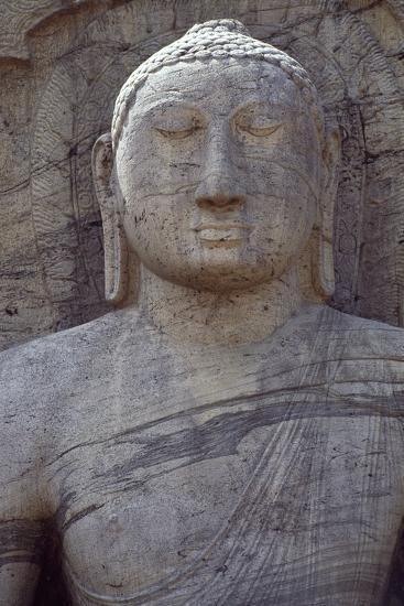 Sri Lanka, Polonnaruwa, Sitting Buddha of Gal Vihara--Photographic Print