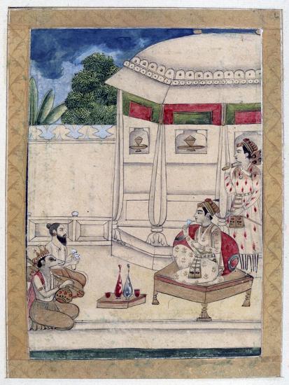Sri Raga, Ragamala Album, School of Rajasthan, 19th Century--Giclee Print