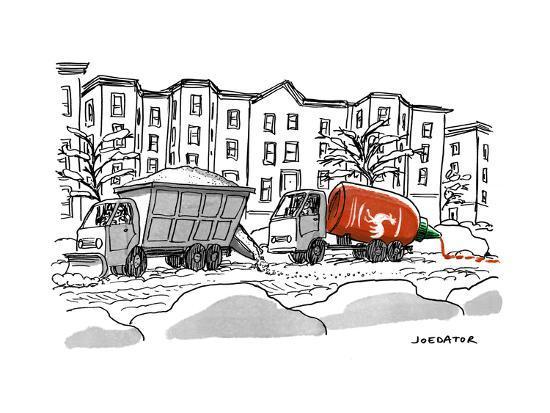 """""""Sriracha"""" - New Yorker Cartoon-Joe Dator-Premium Giclee Print"""