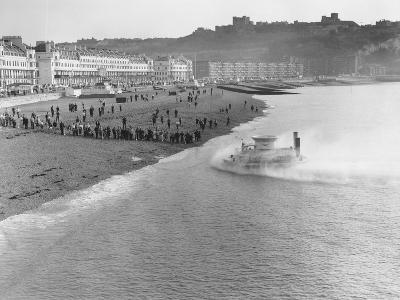 SRNI Hovercraft Arriving at Dover after the First Channel Crossing--Photographic Print