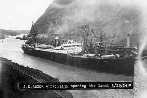 SS Ancon at the Opening of the Panama Canal
