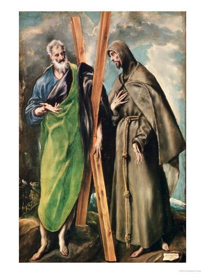 Ss. Andrew and Francis of Assisi, After 1576-El Greco-Giclee Print