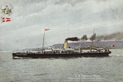 Ss Galtee More, Holyhead and Greenore Service, Quickest Route London, Birmingham and Belfast--Photographic Print