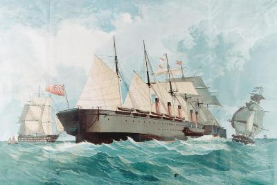 SS Great Eastern, IK Brunel's Great Steam Ship, 1858--Giclee Print