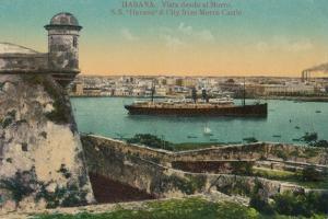 Ss Havana and City from Morro Castle, Havana, Cuba, C1910