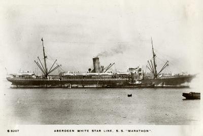 SS Marathon, Aberdeen White Star Line Steamship, C1903-C1920- Kingsway-Giclee Print