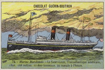 SS St Louis, American Transatlantic Liner, 1895--Giclee Print