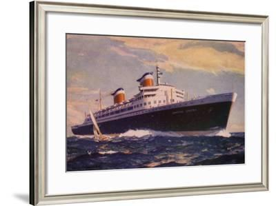 Ss United States on Her Maiden Voyage, 10 July 1952--Framed Giclee Print