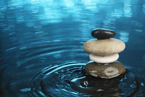 Balanced Stones in Water by SSilver