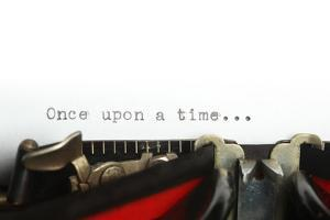 Vintage Typewriter with Once upon a Time... by SSilver