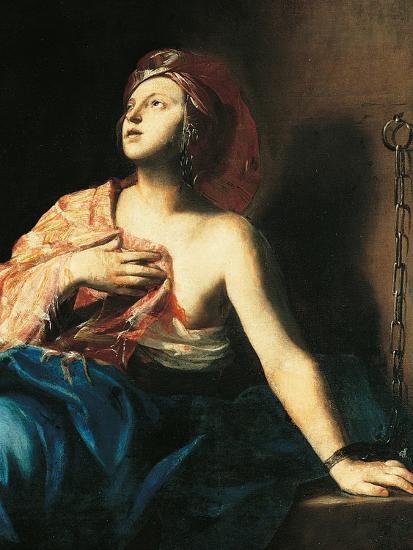 St. Agatha in Prison-Massimo Stanzione-Art Print