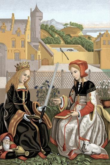 St Agnes and St Catherine--Giclee Print