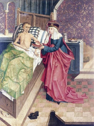 St Agnes and the Sick, Detail from Stories of St Agnes--Giclee Print